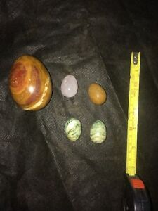 Collection of Polished Stone Eggs.