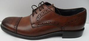 Men's Andrew Charles Vero Cuoio Brown Lace Up Leather Shoes - Size UK 9 EUR 43