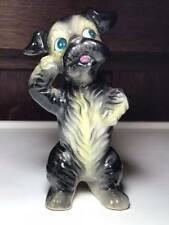 Vintage ceramic puppy dog figurine made in Japan