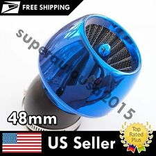 Thread Diameter 45 degree 48mm Blue Apple Shape Air Filter Cleaner for Auto Car