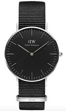 Daniel Wellington Watch * DW00100151 Classic Black Cornwall 36MM NATO
