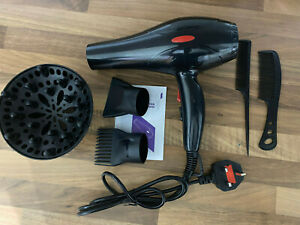 Professional Style 2000W Hair Dryer w/ Diffuser & Nozzle Salon Styler