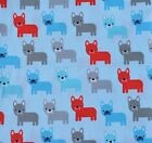 FRENCH BULLDOGS IN BLUE QUILTING FABRIC BY ANN KELLE FOR ROBERT KAUFMAN FQ
