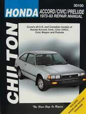 HANDBOEK/MANUAL : Honda Accord - Civic - Prelude, 1973-83 (oldtimer manuel,boek