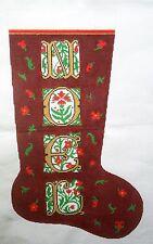 NEEDLEPOINT Handpainted Canvas LEE Christmas Stocking NOEL 13M