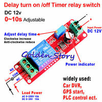 DC 12V adjustable 0-10 Second Timer Delay Turn Off/On Switch Time Relay Module