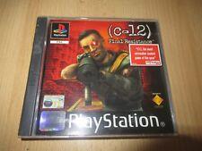 C-12 Final Resistance Playstation 1 PS1 mint collectors  pal version