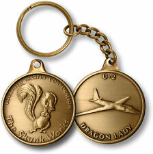 Skunk Works coin style keychain Lockheed Martin U 2 Dragon Lady retirement gift
