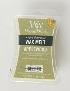 New Woodwick Applewood Green Apple Cinnamon Bark Wax Melts 3 Oz Each