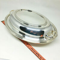 Vintage Silverplate Covered Dish Charles S Green Oval Serving Tray Birmingham UK