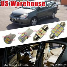 9-pc Super White Car LED Lights Interior Package Kit For 2001-2005 Toyota Echo