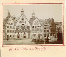 Allemagne, Hôtel de Ville de Francfort  Vintage citrate print. Vintage Germany