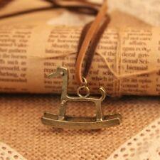 cadena con colgante Caballo mecedora Bisutería Vintage Retro