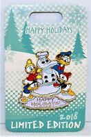 Disney 2018 Happy Holidays Christmas Donald & Hewy Dewy Lewy 3-D Pin LE 3500 NEW