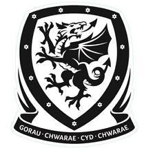 New Clear Vinyl Fenêtre Autocollant 10x9cm Pays de Galles de football Gallois Cymru Football Cardiff