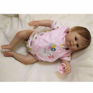 20'' Siliconely Bebe Reborn Baby Girl Dolls Lifelike Baby Newborn Doll Handmade