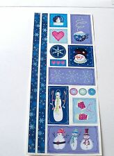 Creative Memories Jumbo G. L. Holiday Sparkle Stickers~Blue/Purple 1 Sheet New