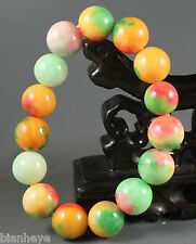 Beautiful China jade Chinese jade 15 Beads chain bracelet