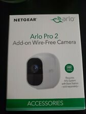 Arlo Pro 2 Indoor/Outdoor HD 1080p Wi-Fi Add on Security Camera White VMC4030P