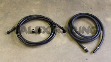 96-01 Acura Integra Black Stainless Steel Fuel Feed Line & Rubber Return