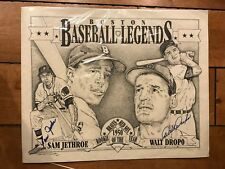 1950 Rookies of the Year lithograph Dual-signed Walt Dropo & Sam Jethroe /500