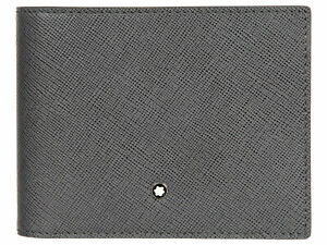 Wallet for man Montblanc Sartorial 116329 4 pockets with money clip grey leather