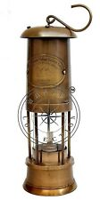 "14"" Permissible Flame Safety Lantern Ship Maritime Brass Nautical Miner Oil Lamp"