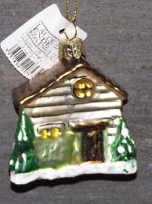 Bolas de Navidad Adorno cristal casa para árbol 7 7 3,5cm