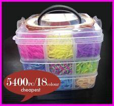 Women Rubber Loom Band Kids DIY Bracelet Silicone Bands PVC BOX Family Kit Set