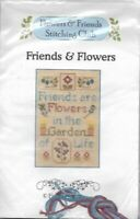 Friends & Flowers Elizabeth's Designs Cross Stitch Kit w/ Flowers Charms