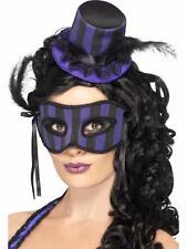 Grotesco burlesco Sombrero Y eyemask conjunto Negro & Morado Smiffys Fancy Dress
