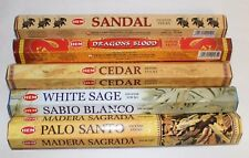 Dragons Blood, Palo Santo, Cedar, Sandal, White Sage Incense Sticks 5 x 20 = 100