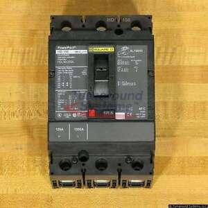 Square D HDL36125SA Circuit Breakers, 125 Amp, 120 VAC Shunt Trip, NEW!