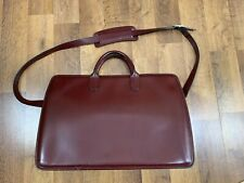 Jack Georges Leather Briefcase Laptop Messenger Bag Business Italian