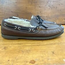 LL Bean Men's Shearling Lined Wicked Good Moccasin Indoor/Outdoor Size 9 D