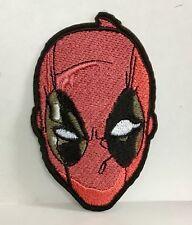 Máscara Superhéroe Marvel Deadpool Parche bordado apliques coser hierro #126