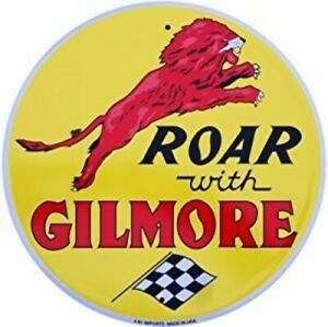 Gilmore Roar With Gilmore Round Metal Sign 300mm diameter   (sf)