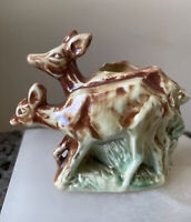 Vintage McCoy Ceramic Deer Planter, Small Succulent Deer Planter, McCoy Planter