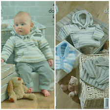 KNITTING PATTERN Baby Jumper, Waistcoat and Hoodie with Pockets DK KC 4205