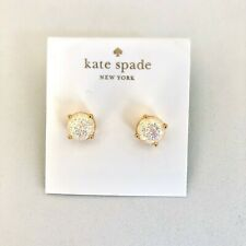 Kate Spade Glitter Round Stud Earrings Various Colors New with dust bag