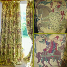 More details for 7ft11x8ft curtains linen heavy mravl  used medieval interlined knight antique