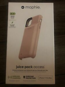 Mophie Juice Pack Access iPhone 11 Pro Max Pink Battery Wireless Charging