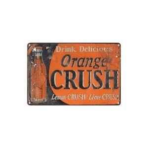 Metal Tin Sign orange crush drink delicious Decor Bar Pub Home Vintage Retro
