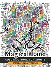 Magical Land Adult Colouring Book Enchanted Magical Mystical Fantasy Dragon Art