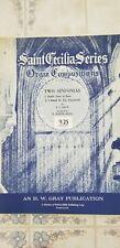 Saint Cecilia Series Organ Compositions Sheet Music