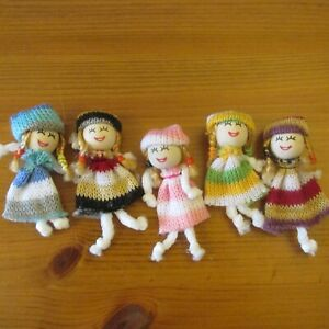 Mini Rag Dolls Play Fun Happy faces Friends/Craft/Party Bags/Dolls House1/12