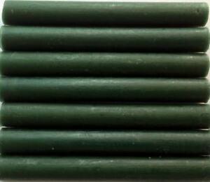 Forest Green flexible Glue Gun Sealing Wax - 7 Sticks (slightly irregular)