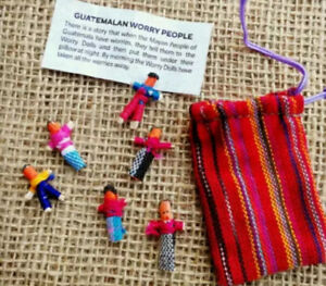 6 Small Worry Dolls in a Bag Original Guatemalan Worry People Ethically Sourced