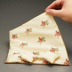 Pink Rose Queen Bed Spread Comforter Reutter 1.829/3 Dollhouse Miniature