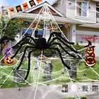 HOPOCO Halloween Spider Decorations 59″ Giant Plush Spider with Red Eyes